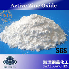 Indirect process zinc oxide used in rubber and tire