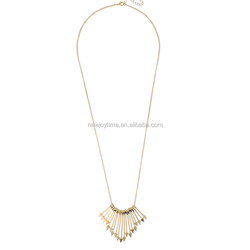 Vogue New Gold Chain Design For Men Jewelry Gold Arrows Pendant Necklace