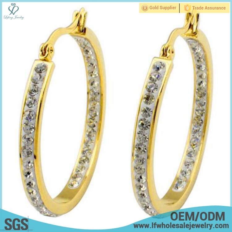 New designs 2013 cheap made in china one gram gold diamond earrings jewelry