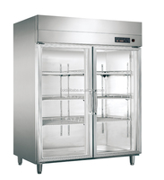 4 Big Glass Door Used for commercial Hotel/Restaurant Kitchen Fridge/Kitchen freezer stainless steel freezer refrigerator