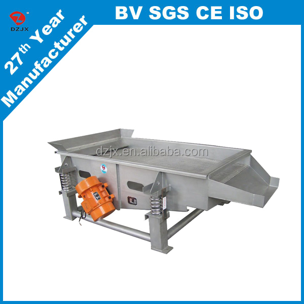 ISO&CE certificate Sturdy small sugar and grain industry linear vibration screen / sieve machine