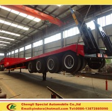 Four axles heavy loading low bed trailer dimensions