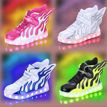 Wholesale new light up shoes USB charging kids shoes 2017 Led Shoes