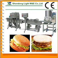Automatic High Quality Chicken Nuggets Hamburger Making Machine