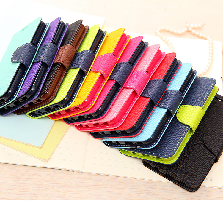 Hit color Flip Cover Mobile Phone Case For Samsung Galaxy Grand Prime G530