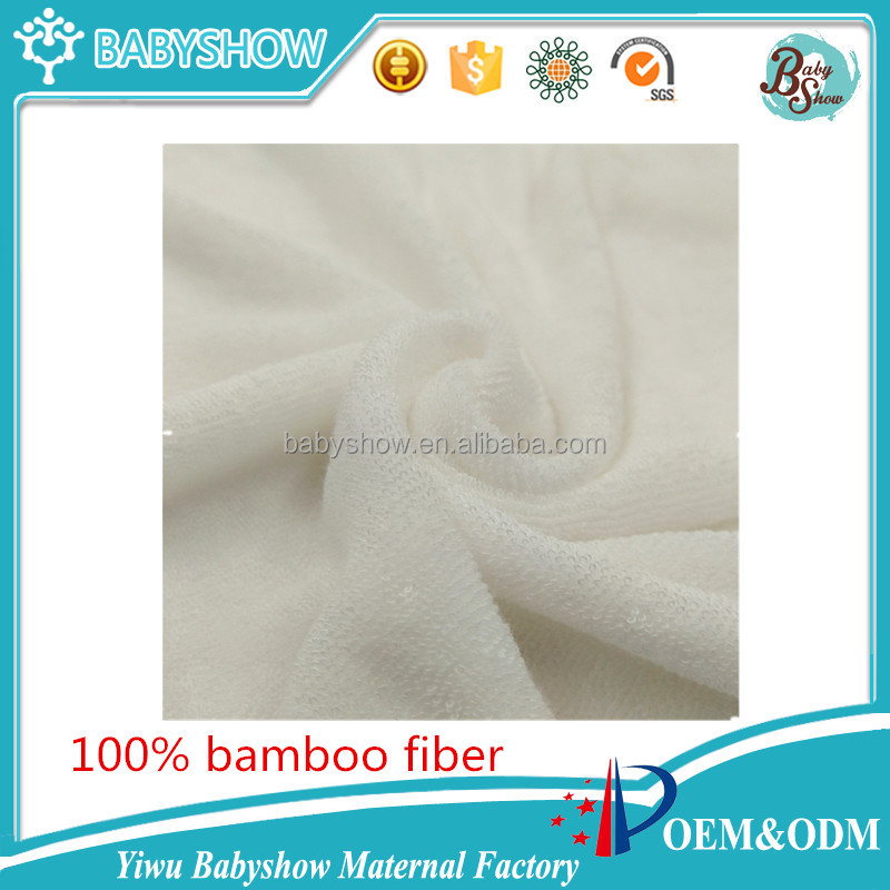 wholesale Oeko-Tex certificated bamboo terry raw material for baby cloth diaper insert booster,cloth nappies inner bamboo fiber