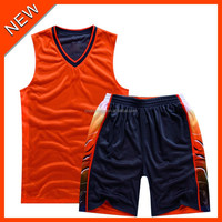 Customized different size and color couple models basketball jersey