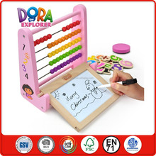 trendy christmas gift 2014 velcro number water soluble sign pens chalk chalkeeper multifunction kids drawing board wooden abacus