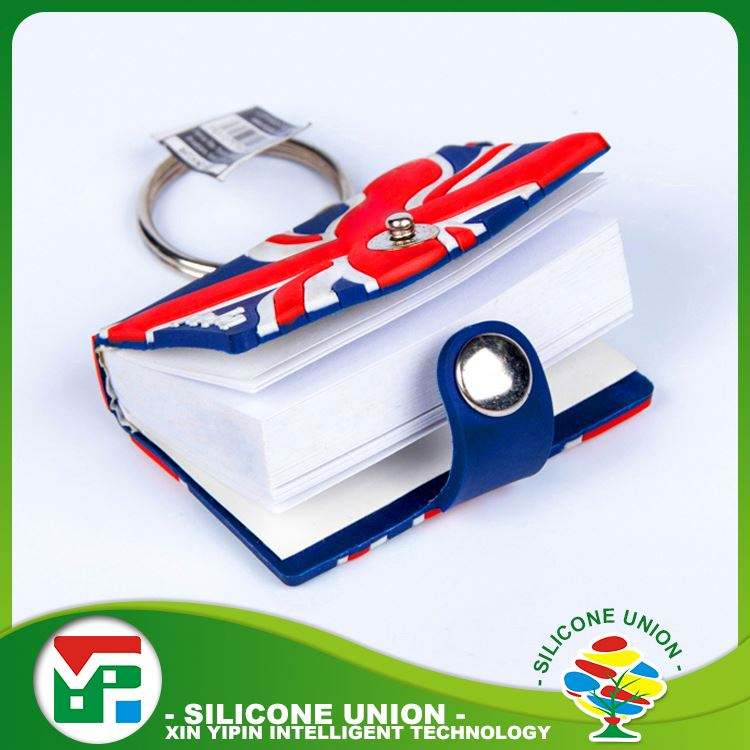 Practical products mini book multiple colour promotional key chain