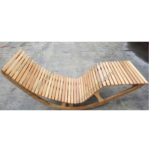 Outdoor / Indoor Wooden For Adult Use Hot Sale Double Years Teak Relax Rocking Chair