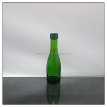 30ml 1oz green colored glass liquor/alcohol drinking bottle with thin neck wholesale