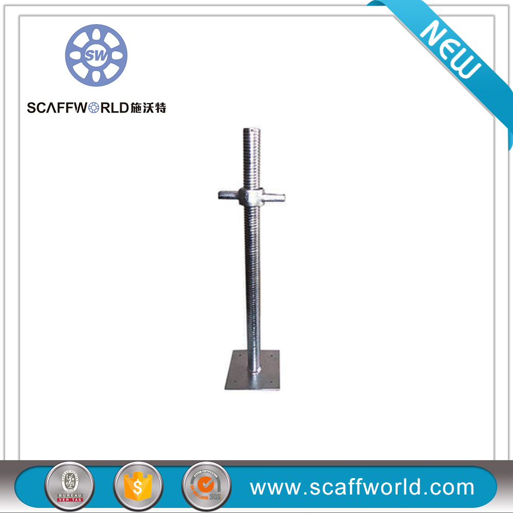 Brand new electro-galvanized adjustable screw hollow jack base with certificate