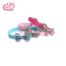 Colorful Diamante Rhinestone Buckle Dog Collar for small dog chihuahua Teddy #F-1026