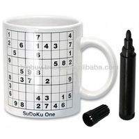 Ceramic Sudoku Mug Paintable with Marker