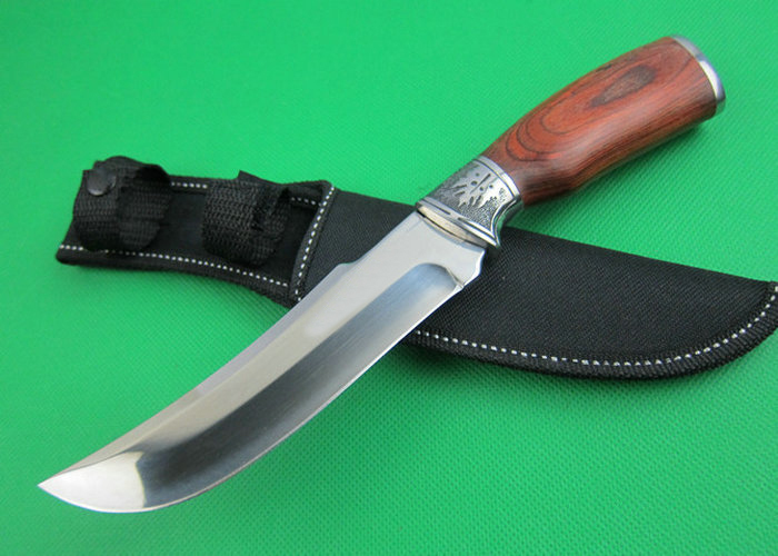 OEM tactical survival knives camping fixed blade knife rescue tool hand 5Cr15 55-57HRC blade wood handle 1642