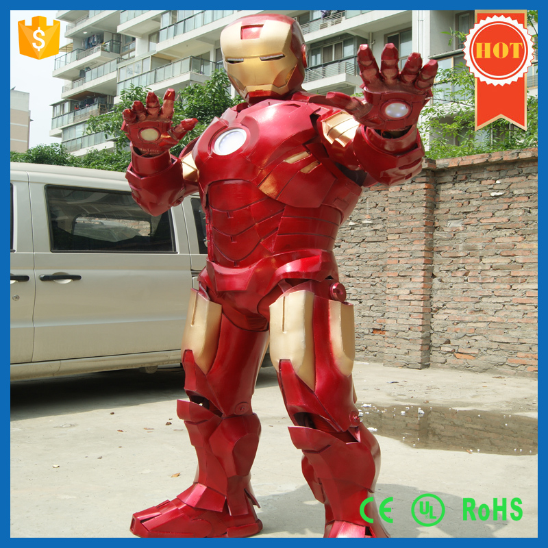 Customized Full Body Ironman Costume Armor Suit on Robot Show