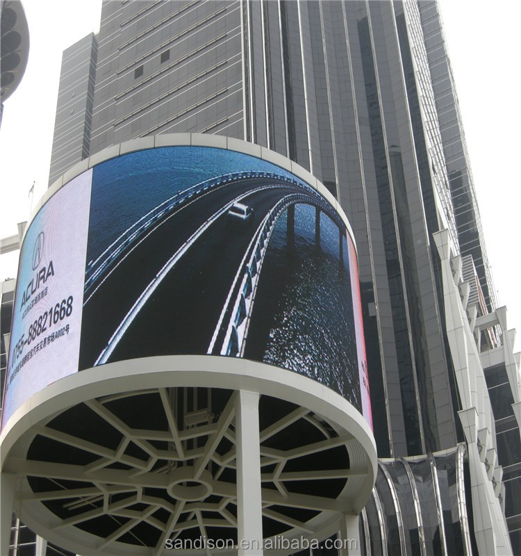 360 Degree Curved LED display Screen outdoor Optoelectronic Displays