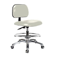 High quality pu seat height adjustable lab stool chair with foot rest