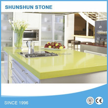 apple green Quartz Countertop for Kitchen countertop,table top