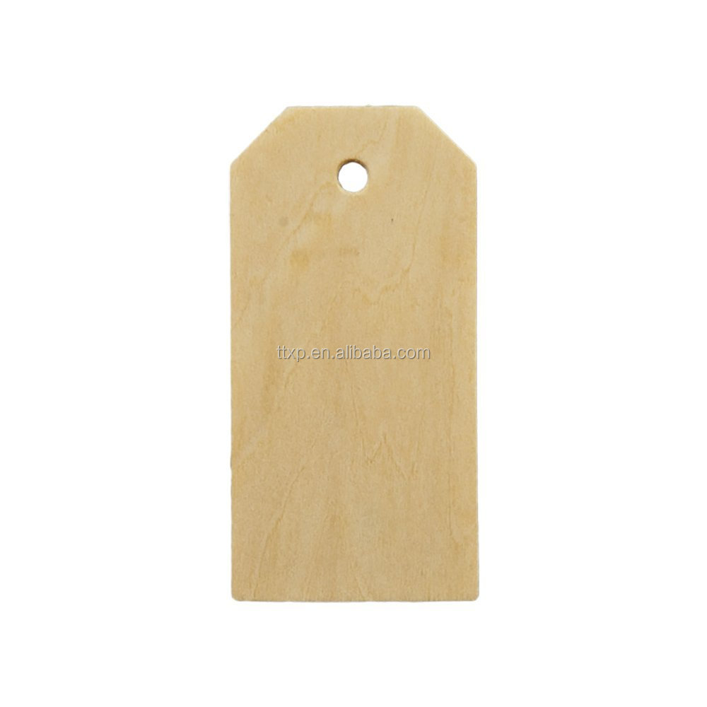 Adorox Wood Gift Tags / Blank Wooden Hang Label Tags for Wine, Decor, Weddings, Presents