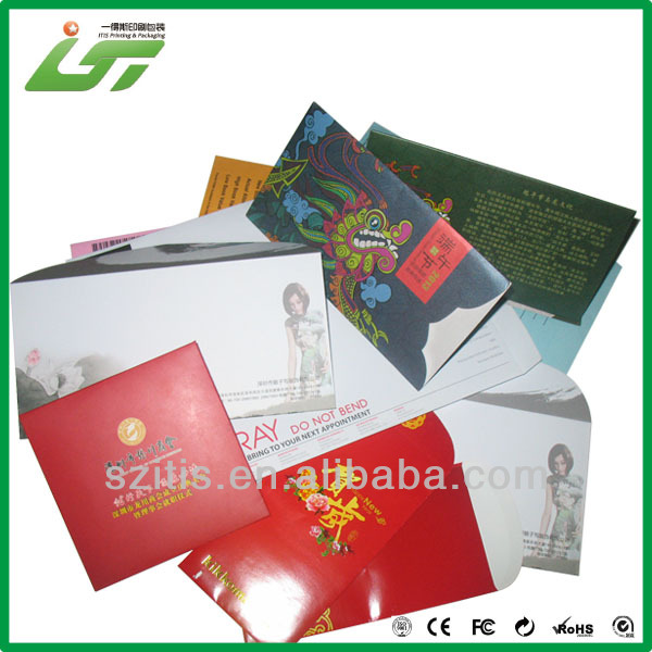 Colored Fancy Paper Gift Envelopes