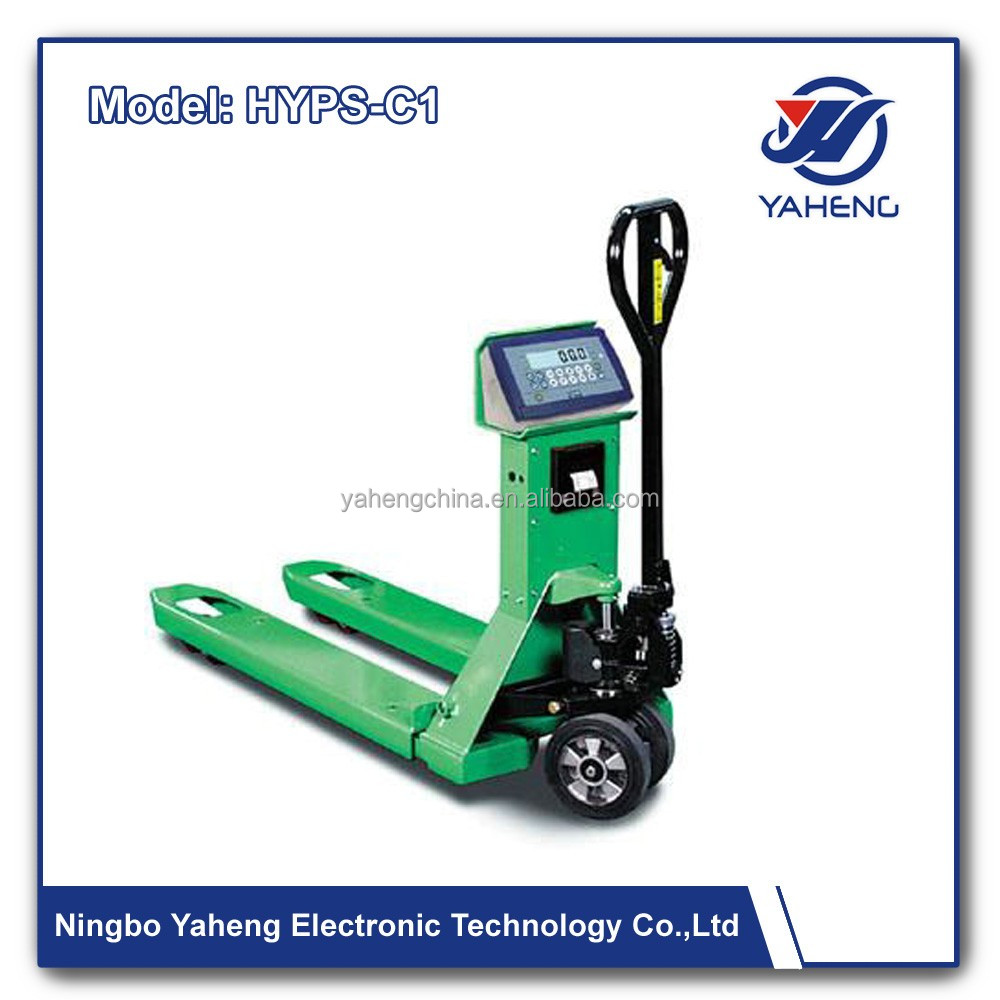 Good Price 2000Kgs Load Capacity 2Ton Pallet Jack Scale 500kg 2000kg 5000kg Manual Hydraulic Hand Pallet Truck with weight scale
