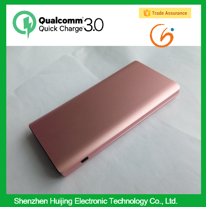 QC3.0 Polymer Super Slim Power Bank 10000mah Portable Charger External Battery 8000 mah Mobile Phone Backup Powers