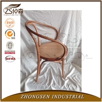 Antique stackable restaurant dining thonet bentwood chair wth arms