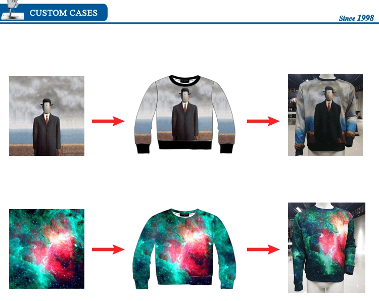 Best Selling fashion Custom Sublimation Full Printing Crewneck Sweatshirt