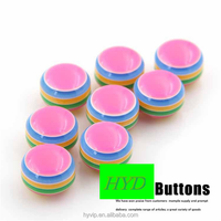 HYD Button Monopoly Diy Handmade Blossoming Rose Redbowbow Children's Clothing Buckle Shirt Buckle 12mm Plastic Button