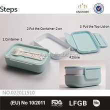 Customized Japanese style Lunch Bento Box with Adjustable Volumes, BPA Free Eco-friendly 440/760/1200ml from China