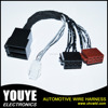 Power amplifier cable wire harness kits for VW