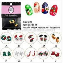 merry christmas 3D decoration christmas Nail sticker