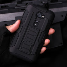 For LG G2 D801 D802 Belt Clip Holster Rugged Hybrid Hard Stand Case