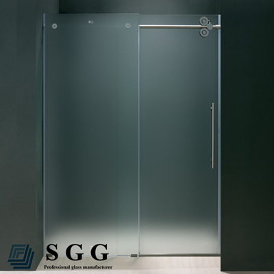 12mm thick tempered glass shower enclosures Bathroom frosted glass wall panel