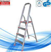 WK-AL204 4 steps high quality hot selling household step ladder rubber feet for ladders