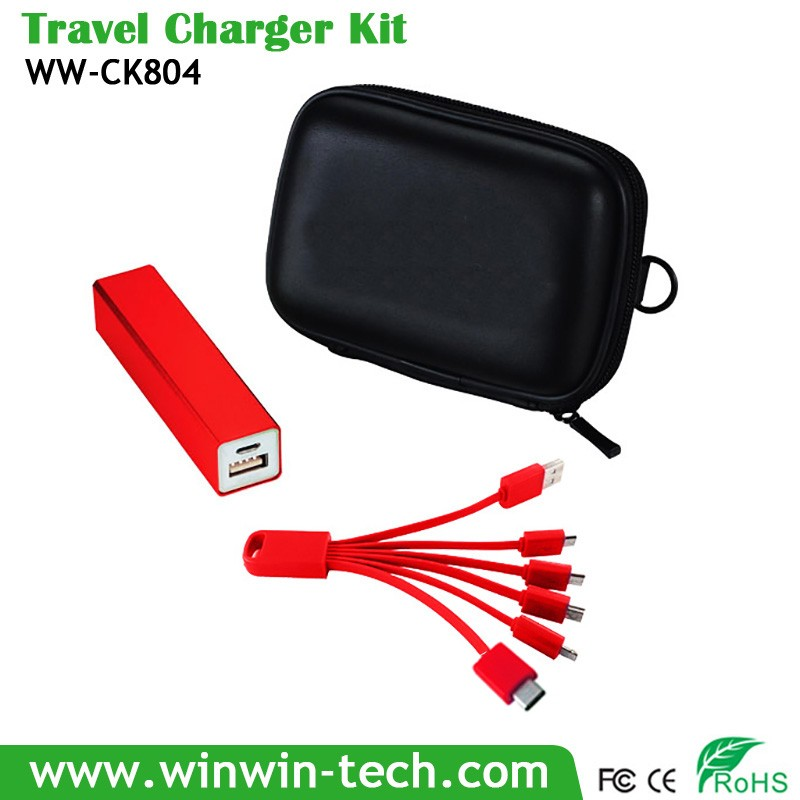 eu us au uk adapter quick charge 3.0 travel charger kit for all mobile phone