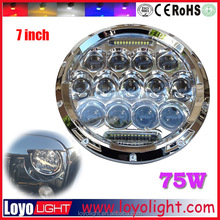 High low beam jeep 7 inch round led headlight 12v 24v with Day running light
