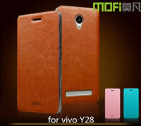MOFi Hot Selling RUI Series Smart Phone PU Leather Flip Cover Case for vivo Y28, Back Cover for vivo Y28