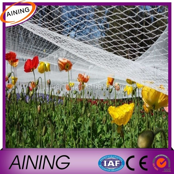 100% new material plastic anti bird net with uv treated bop stretch net