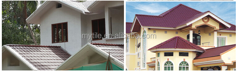 Glossy Grey ceramic roof tile with cheap price from China