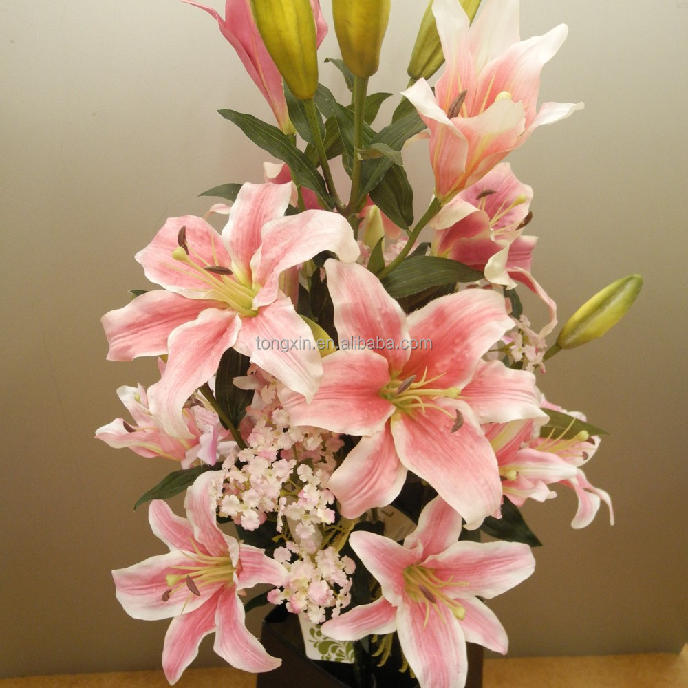 2015 top sell real high quality artificial Tiger Lily flower for home decoration