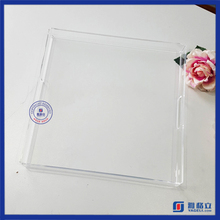 Custom made Acrylic Serving Tray with handles and printing