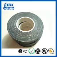 Black fabric cotton insulation tape