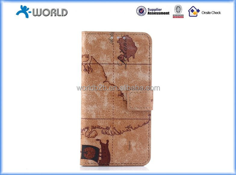 Vintage World Map Leather PU Wallet Card Holder Magnetic Folio Flip Case Cover for samsung s6 edge