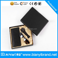2016 new products for men fashion simple businessmen model men watch gift set