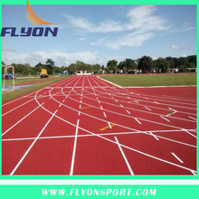 13mm thickness Spray Coating running track Athletic track for Pitch Flooring Sport Stadium Flooring Surface by IAAF