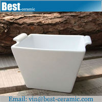 white large ceramic chinese soup bowls with hand