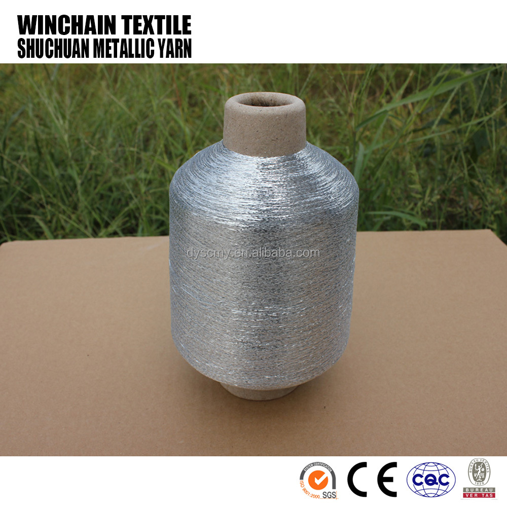 MX type superior quality silver metallized yarns