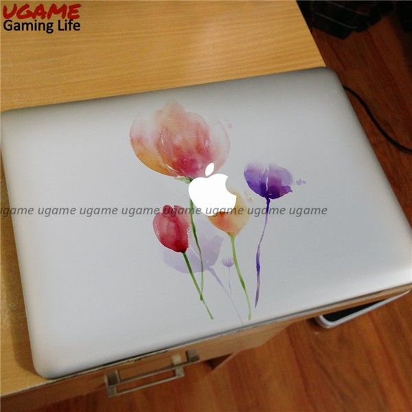 Various color flowers sticker for macbook air skin